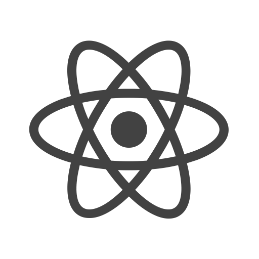 Image shows logo of most popular javascript framework React.